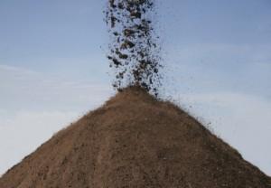 Sifting Topsoil with a Topsoil Sifter